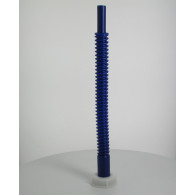 Bec verseur PEHD (40 cm) orientable bleu sur bouchon Femelle Din51