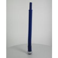 Bec verseur PEHD (40 cm) orientable bleu sur bouchon Femelle Din45