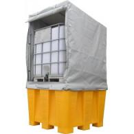 Système bâché structure acier galvanisé pour 1 bac 1600x1300x1500mm pour bac 1200l et 450l