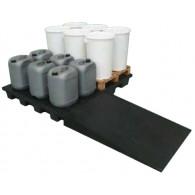 Plateforme de rétention ECO 240 litres plastique avec caillebotis PE