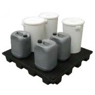 Plateforme de rétention ECO 180 litres plastique avec caillebotis PE