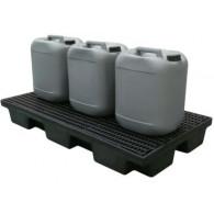 Plateforme de rétention ECO 80 litres plastique avec caillebotis PE