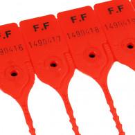 Scellé PP à tige crantée ronde - Longueur 200 mm - Tige Ø3 mm - Rouge