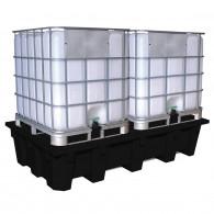 Bac de rétention PE Eco Bi conteneur 1050 litres