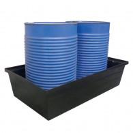 Bac de rétention PE 300 litres Noir sans caillebotis