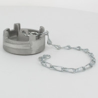 Bouchon sans verrou + chainette Ø 50 mm - Alu