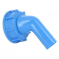 Bec Verseur Bleu coudé orientable sur bouchon DIN 61