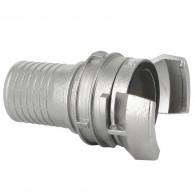 Demi-raccord symétrique avec verrou - DN 50 mm - Embout annelé Ø 51 mm - Inox
