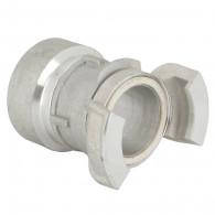 """Demi-raccord symétrique avec verrou - DN 40 mm - F 1""""1/4 pas gaz - Alu - Joint NBR"""