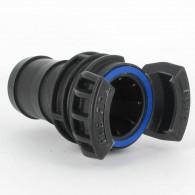 Demi-raccord symétrique avec verrou - DN 40 mm - Embout annelé Ø 45 mm - PP