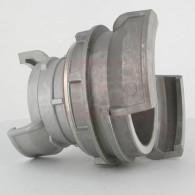 Réduction double raccord symétrique avec verrou - DN 100 et 65 mm - Alu