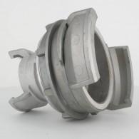 Réduction double raccord symétrique avec verrou - DN 100 et 50 mm - Alu