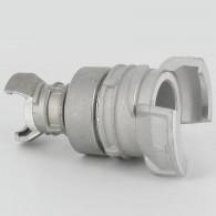 Réduction double raccord symétrique avec verrou - DN 40 et 20 mm - Alu