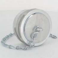 Bouchon avec verrou + chainette Ø 50 mm - Alu