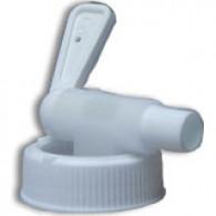 Robinet Quick Serve sur bague inviolable blanche 38 mm USA + boisseau court