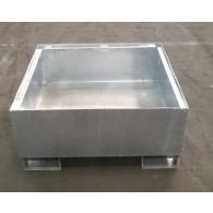 Bac de rétention - 220 l - acier galvanisé à chaud sans caillebotis (1 fût)