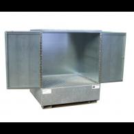 Armoire de rétention en acier galvanisé avec caillebotis - Hauteur standard