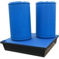 Bac de rétention PE à fond plat 240 litres (carré)
