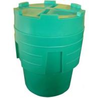 Réten-fût : Bac et couvercle pour fût 225 litres