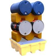 Support de 2 fûts 220 litres gerbable