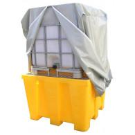 Bâche de protection 1300x1300 mm pour Cuve IBC - Grise