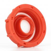 Bouchon F DIN61 (S60X6) Rouge + bouchon 3/4 BSP (pas gaz)