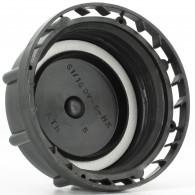 Bouchon F DIN61 (S60X6) PEHD Noir plein + Inviolabilité