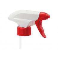 Tête de pulvérisateur PE blanc/rouge 1.25 ml - Tige 26 cm - Mousseur 28mm/410
