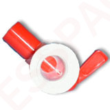 Female Tap Jumbo + white screw ring 38 mm