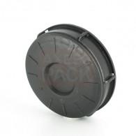 Werit Plain Screw cap Ø150 Black