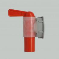 Female tap Jumbo + white screw ring 38 mm grey