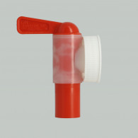 Female Tap Jumbo - screw ring 38 mm USA white + EPDM gasket