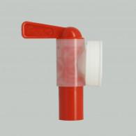 Female Tap Jumbo - Cubitainer + Screw ring 38 mm USA - white
