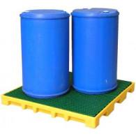 Square 120 L retention floor (HDPE)