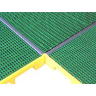 Inox gasket covering for platform junction (sku 070535) - 1220mmx40mmx35mm