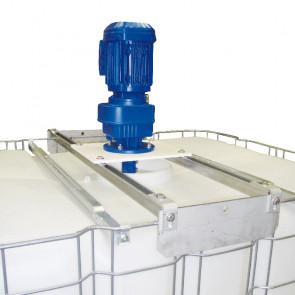 Agitateur électrique de cuve IBC - 104 tr/min + Adaptateur universel + 2 hélices